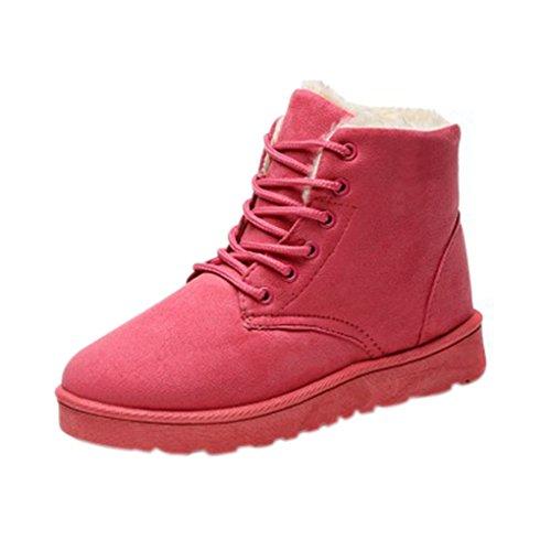 Bottines Neige Boots Noir Plates Snowboots Snow Chaussures Court Bottes Sport Fille Beige Fourrées Landove De Chaussons Rose Chaudes Gris Cheville Hiver Femmes 4BIwxEq