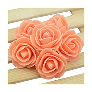 HANBINGPO 20pcs/lot Mini PE Foam Rose Flower Head Artificial Rose Flowers Handmade DIY Wedding Home Decoration Festive & Party Supplies,Orange 114