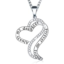 """♥Mother's Birthday Gift♥ Ado Glo """"Always My Mother Forever My Friend"""" Love Heart Pendant Necklace - Women's Fashion Jewelry Present for Wife, Aunt, Nana, Mom"""