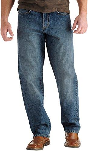 Lee Men's Big-Tall Premium Select Custom Fit Loose Straight Leg Jean, Drifter, 52W x - Jeans Mens Blue Loose
