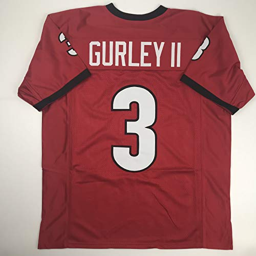 Unsigned Todd Gurley II Georgia Red Custom Stitched College Football Jersey Size Men