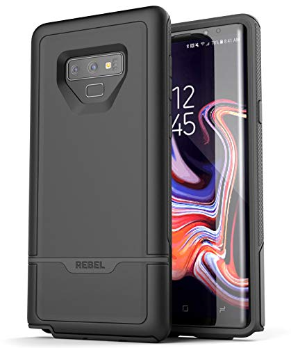 Encased Heavy Duty Galaxy Note 9 Case (2018) - Extreme Rugged Protection (Rebel Armor) Full Body Shock Resistant Cover (Black)