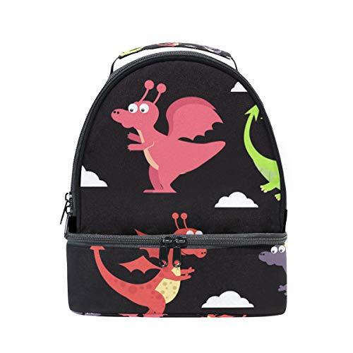 Alinlo Western Dragon Boîte à lunch Sac isotherme Cooler Tote avec bandoulière réglable pour Pincnic à l'école