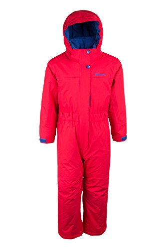 Mountain Warehouse Cloud All In 1 Kids Snowsuit - Waterproof Jumpsuit Red 2-3 years