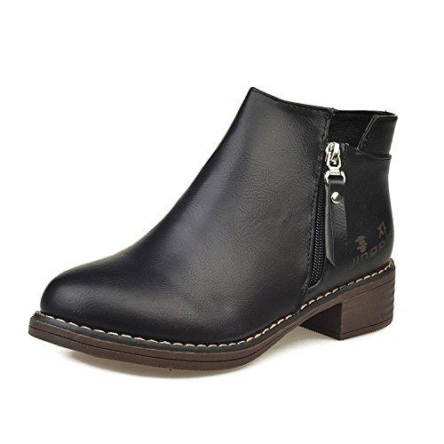Chelsea Boots Et Courtes SHOESHAOGE Bottes Nue Pointu D'Hiver Scrub Bottes unie Printemps Talon Couleur Chaussures Femme q7wnwO0E