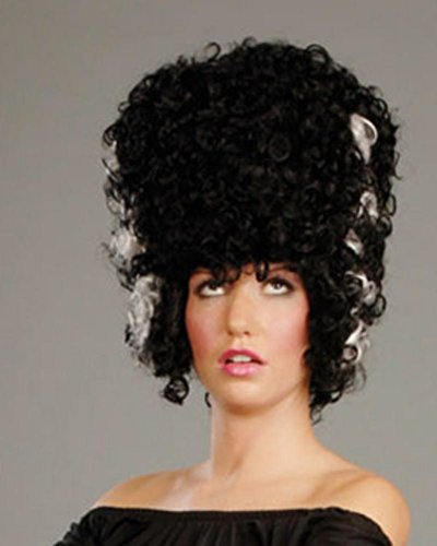 Mrs. Frankenstein Bride Halloween Women's Monster Black and White Wig by Enigma Costume Wigs