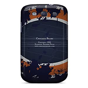 Flexible Tpu Back Case Cover For Galaxy S3 - Chicago Bears