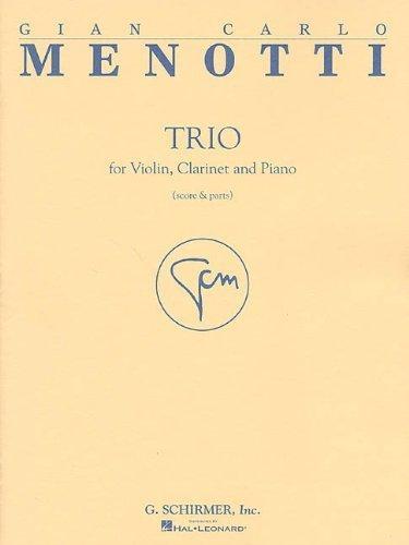 (TRIO VN/CL/PNO SC/PARTS TRIO FOR VIOLIN CLARINET PIANO (2001-06-01))