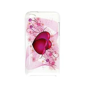 IMD Doble Corazón blanco de la cubierta de plástico para el iPod Touch 4G