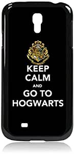 Keep Calm And Go To Hogwarts -Hard Black Plastic Snap - On Case-Galaxy s4 i9500 - Great Quality!