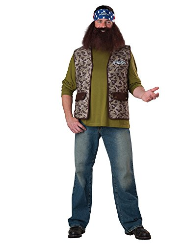 InCharacter Costumes Duck Dynasty Willie Costume, Brown Camo, One (Costume Beards For Sale)