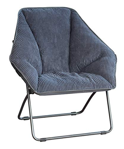 Gray Hexagon Folding Dish Chair, Pack of 2