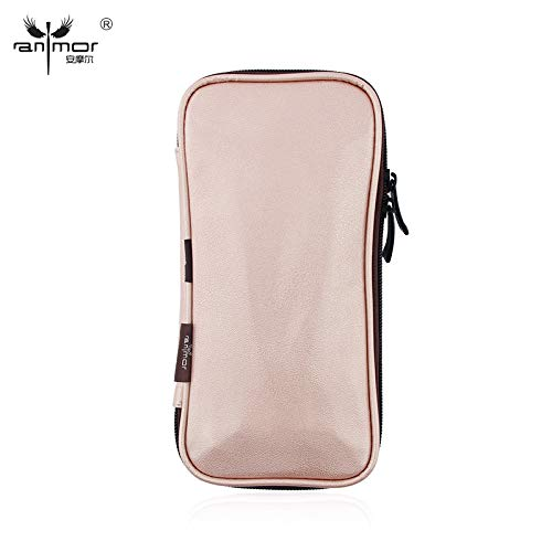 Professional Makeup Brushes Bag Holder Beauty Pink PU Leather Cosmetic Brushes Traval Storage Case ()