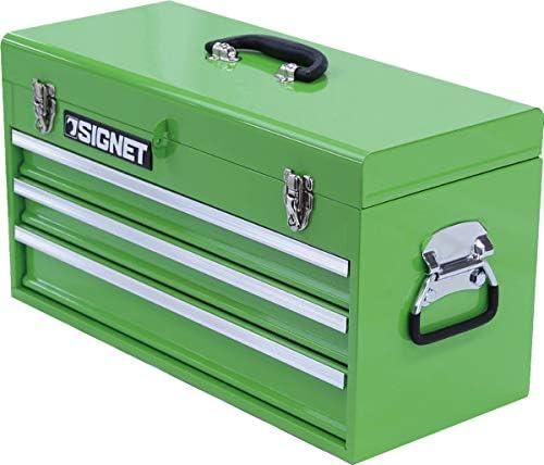 シグネット SIGNET 工具箱 ベアリングレール3段引出しツールボックス ライムグリーン