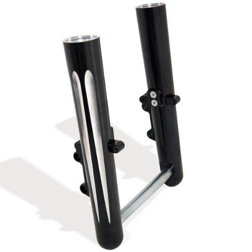Image of Arlen Ness 06-563 Black Hot Legs Fork Leg Set Components & Parts
