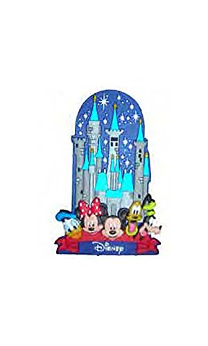 Disney Mickey Mouse and Friends Castle Lasercut Rubber Refrigerator Magnet