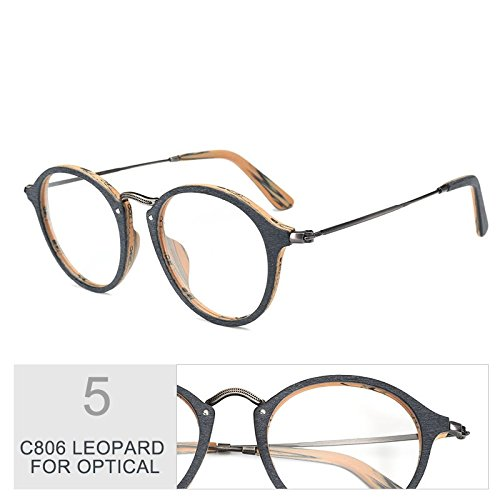 Madera De De Gafas Gafas TIANLIANG04 Polarizadas Sol Azul Uv400 Redondas C19 Similares LEOPARD Unisex C806 Zx8wzzdq