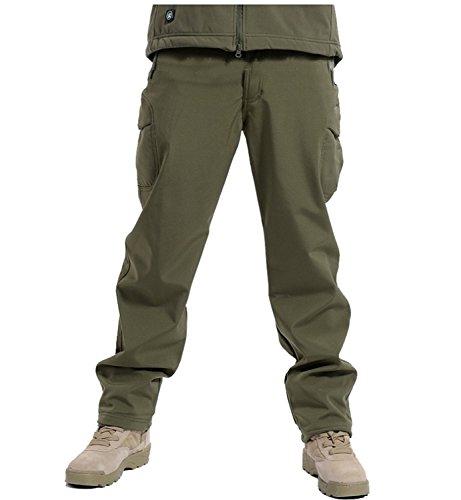 b617fd949e418 Michael Palmer Soft Shell Tactical Military Camouflage Pants Men Windproof  Waterproof Warm Camo Army Fleece Pants Army Green XXL