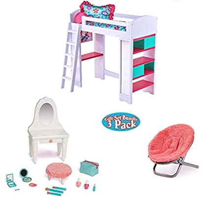 Cool Amazon Com Doll Furniture For 18 Inch Doll Loft Bunk Bed Ocoug Best Dining Table And Chair Ideas Images Ocougorg