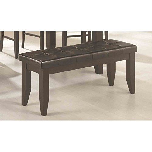 Dalila Dining Bench with Tufted Upholstered Seat Cappuccino and Black