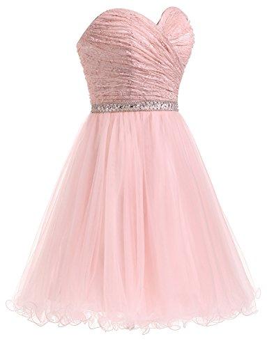 Prinzessin Spitze Brautjungfernkleid Kurze Erosebridal Ballkleid Elegantes zBHqSS