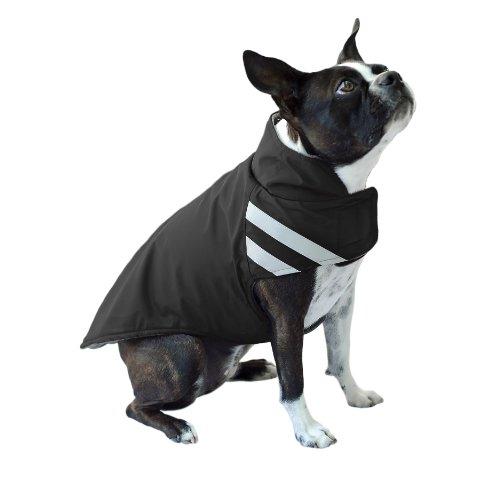 Scooter's Friends Winter Parka Dog Coat, Size 12, Black, My Pet Supplies