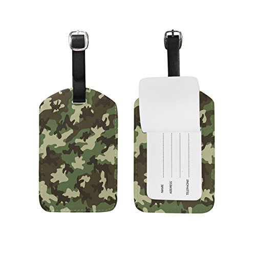 Camouflage Luggage Tag - Use4 Military Camouflage Camo Luggage Tags Travel ID Bag Tag for Suitcase 1 Piece