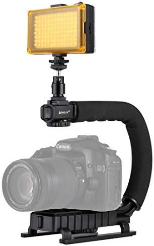 ビデオカメラ&ビーデルアクセサリー U/CシェイプポータブルハンドヘルドDVブラケットスタビライザー コールドシューズ三脚ヘッド