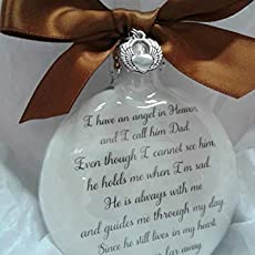 Christmas In Heaven Poem Svg.Amazon Com Memorial Christmas Ornament Sympathy Gift