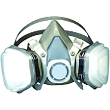 G & F Products Professional Pain Mask Dual Cartridge Respirator Assembly Organic Vapor P95, Large, Half Face Safety mask