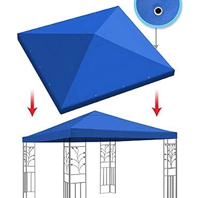BenefitUSA Replacement 10'X10'Gazebo Canopy top Patio Pavilion Cover Sunshade plyester Single Tier (Blue) : Garden & Outdoor
