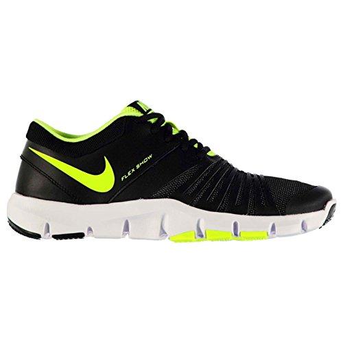 Nike Flex Show TR 5Training Schuhe Herren Schwarz/Volt Fitness Sportschuhe Sneakers, Schwarz / Volt, (UK7) (EU41) (US8)