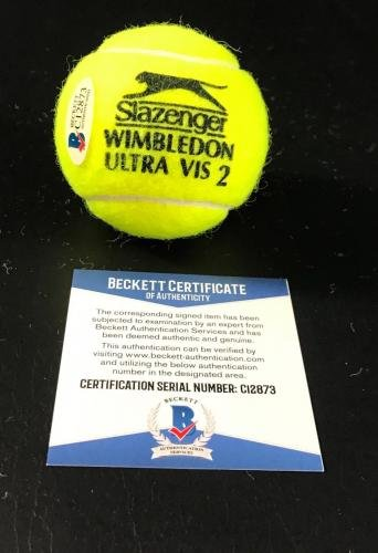 Martina Hingis Signed Authentic Autograph Wimbledon Tennis Ball Beckett Coa E - Beckett Authentication at Amazons Sports Collectibles Store