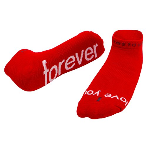 Notes to Self Socks I Love You - Forever Red (L) by notes to self