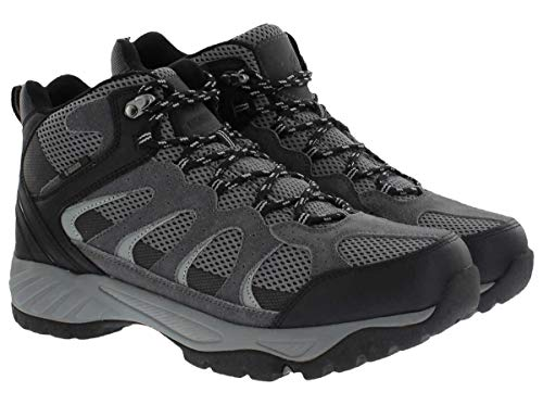 Khombu Tyler Men's Leather Hiking Outdoor Tactical Boots -Black/Grey - Size 11