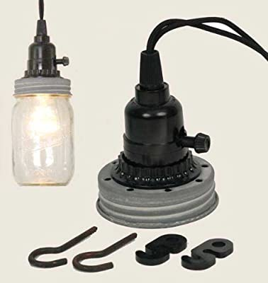 Mason Jar Pendant Lamp Kit in Weathered Galvanized