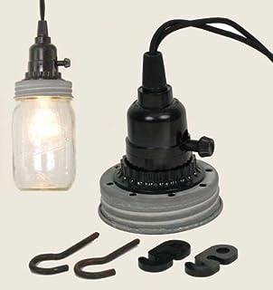 mason jar pendant lighting. Mason Jar Pendant Lamp Kit In Weathered Galvanized Lighting
