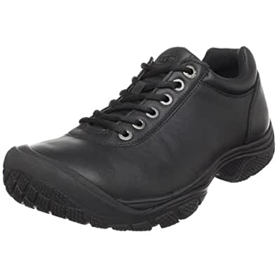 KEEN Utility Men's PTC Dress Oxford Work Shoe,Black,8 M US