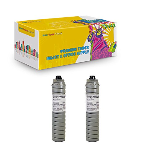 New York TonerTM New Compatible 2 Pack Type 6110D 885400 High Yield Toner for Ricoh : Aficio 1060. --Black