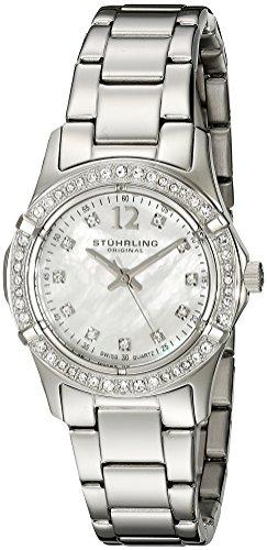 - Stuhrling Original Women's 703B.01 Vogue Audrey Silver-Tone Watch