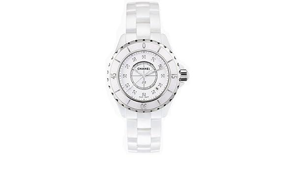 Chanel H1628 de la mujer analógico pantalla Cuarzo Blanco reloj: Amazon.es: Relojes