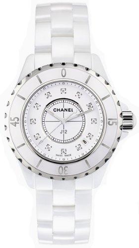 Chanel H1628 de la mujer analógico pantalla Cuarzo Blanco reloj