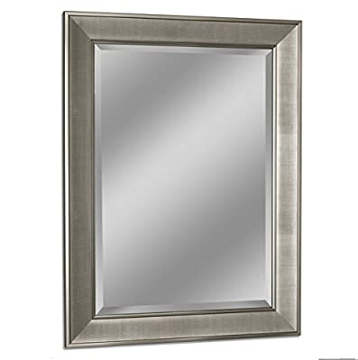 Headwest 8013 Pave Wall Mirror in Brush Nickel,