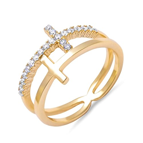 double cross ring - 8
