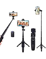 Ottertooth Selfie Stick Tripod, 102 cm Portable Extendable All in One Selfie Stick with Wireless Remote, Compatible with iPhone 11/11 Pro/XS Max/XR/X/8 Plus, Galaxy S9/Note 8, Gopro & Android Devices