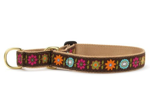 Up Country Bella Floral Martingale Dog Collar - Medium (12.5-20 Inches) - 1 in Width