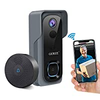 Amazon.com deals on Geree Wireless WiFi Smart Doorbell Camera