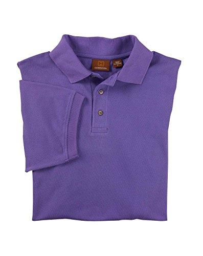 Harriton mens 6 oz. Ringspun Cotton Pique Short-Sleeve Polo(M200)-TEAM PURPLE-3XL