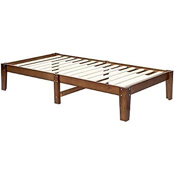Amazon Com Bonnlo 14 Inch Solid Wood Platform Bed Frame