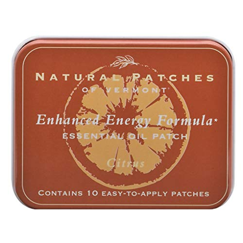 Natural Patches Of Vermont Citrus Enhanced Energy Essential Oil Body Patches, 10-Count Tins ()